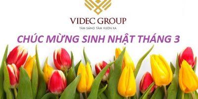 Mừng sinh nhật người VIDEC Group tháng 3